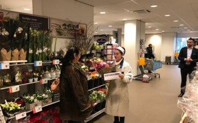 Verrassing voor 350 bezoekers AH Den Haag