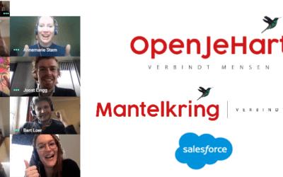 Bijzondere groep vrijwilligers Salesforce belt vanuit Ierland