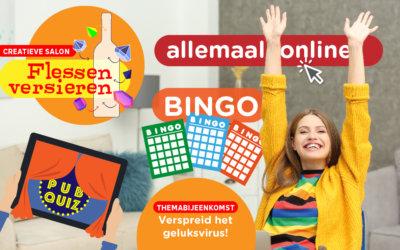 Doe gezellig mee met onze online activiteiten