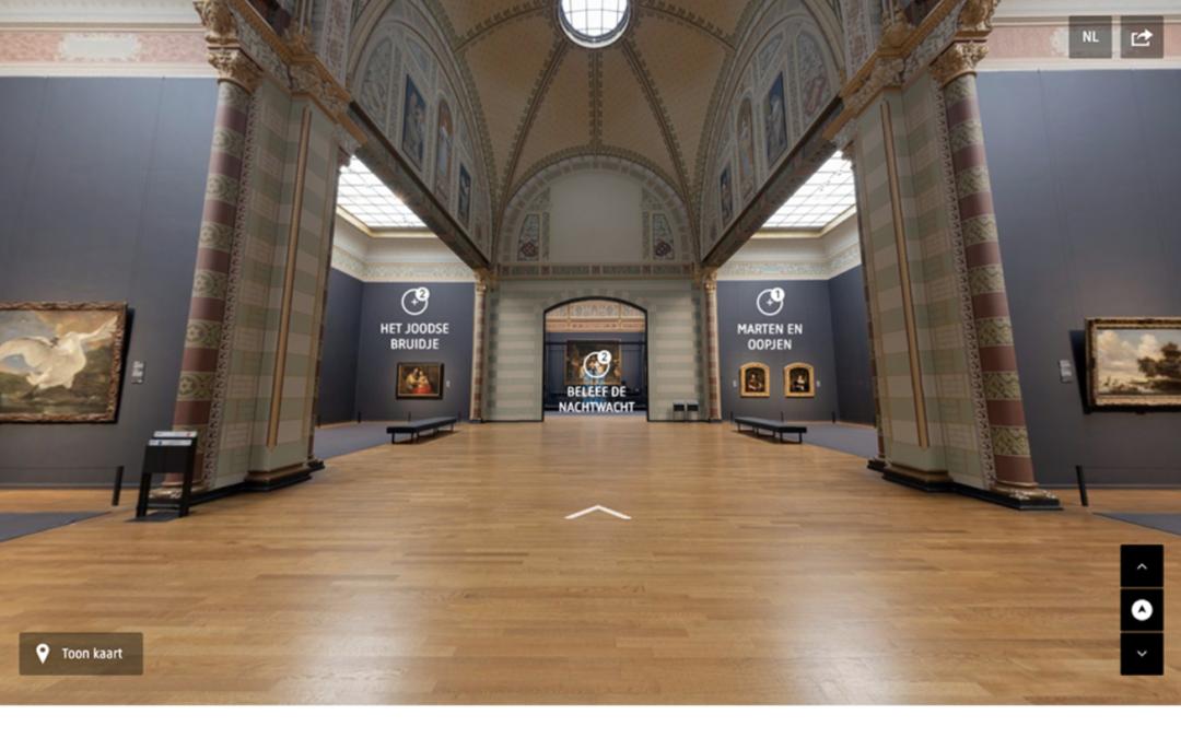 Zeer geslaagde virtuele rondleiding Rijksmuseum